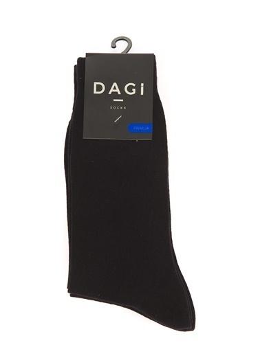 Dagi 2'Li Pamuk Çorap Siyah